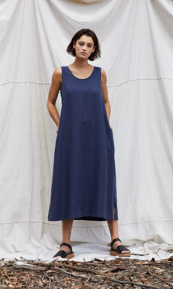 Matilda Dress - Blue Steel