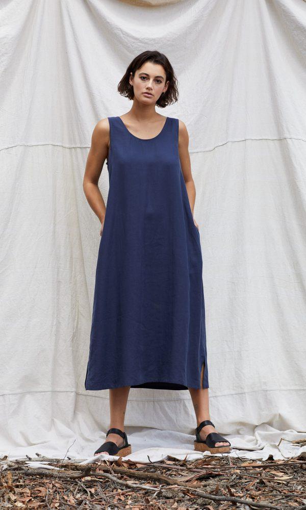 Matilda Dress - Blue Steel